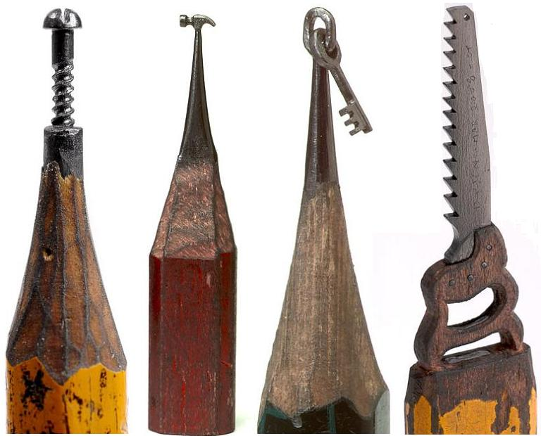 Mydiarymy incredible miniature pencil tip sculptures