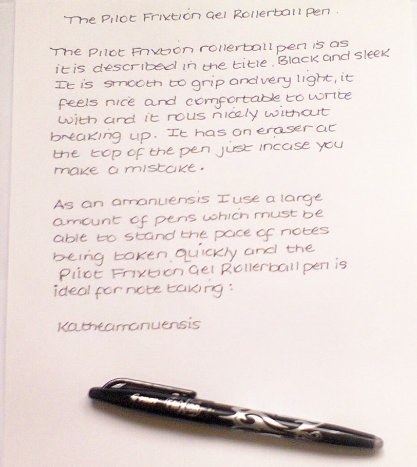 Pilot Frixion 0.7 Erasable Gel Rollerball Pens Review