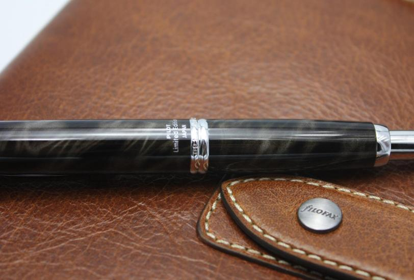 Engraved serial number on Pilot Capless Fountain Pen Charcoal Marble 2012 Limited Edition