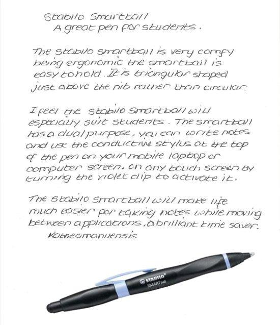 Stabilo smartball pen review
