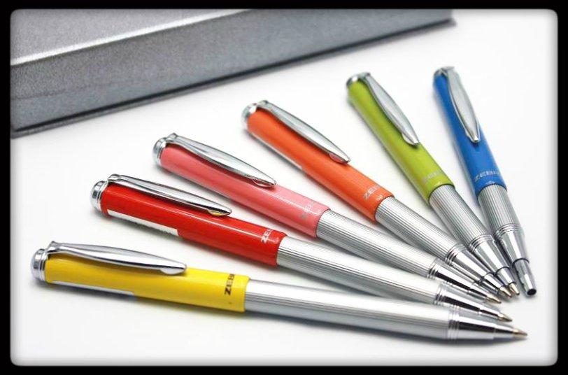 Zebra telescopic brights ballpoint pens